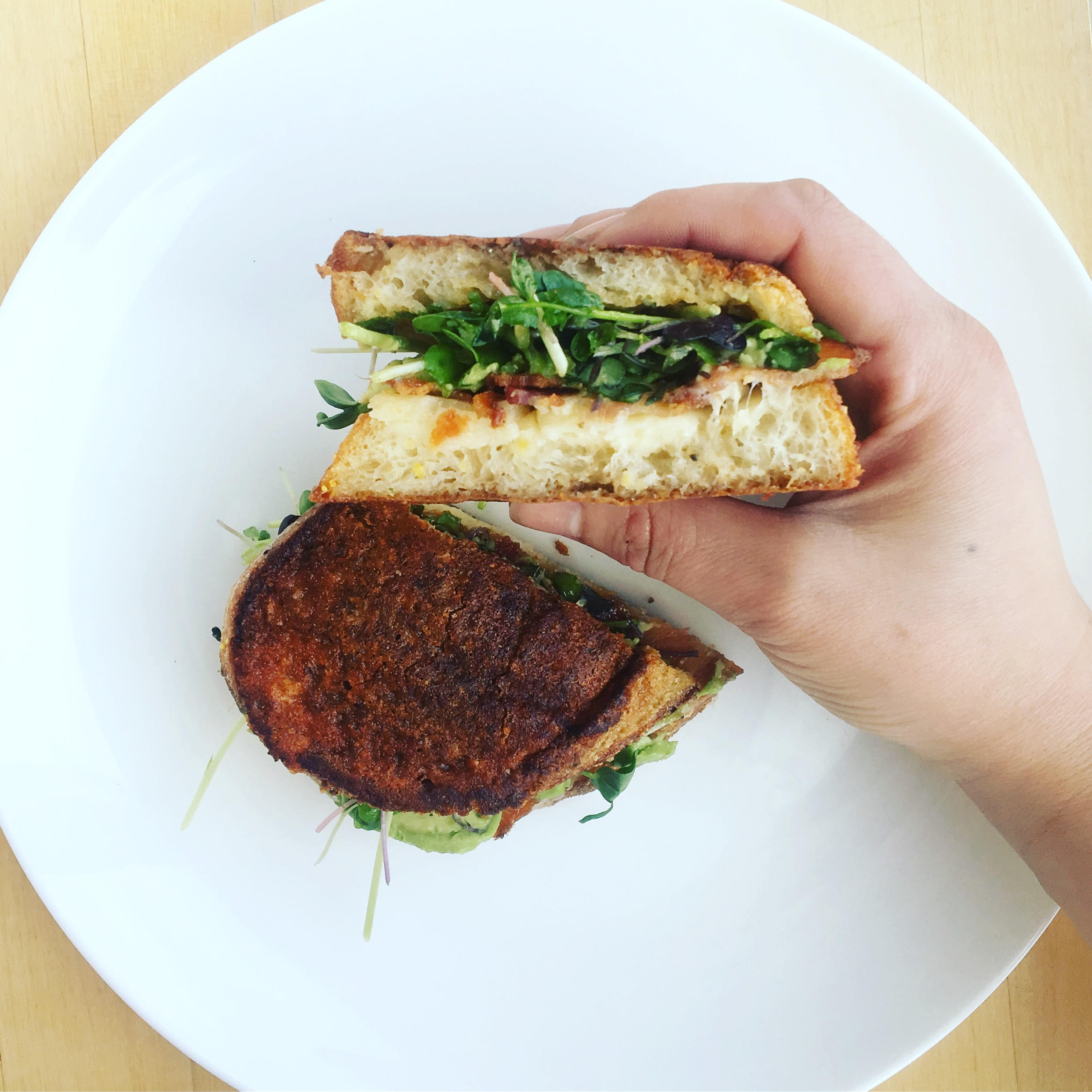 Grilled Cheese Sandwich With Black Garlic Mayo