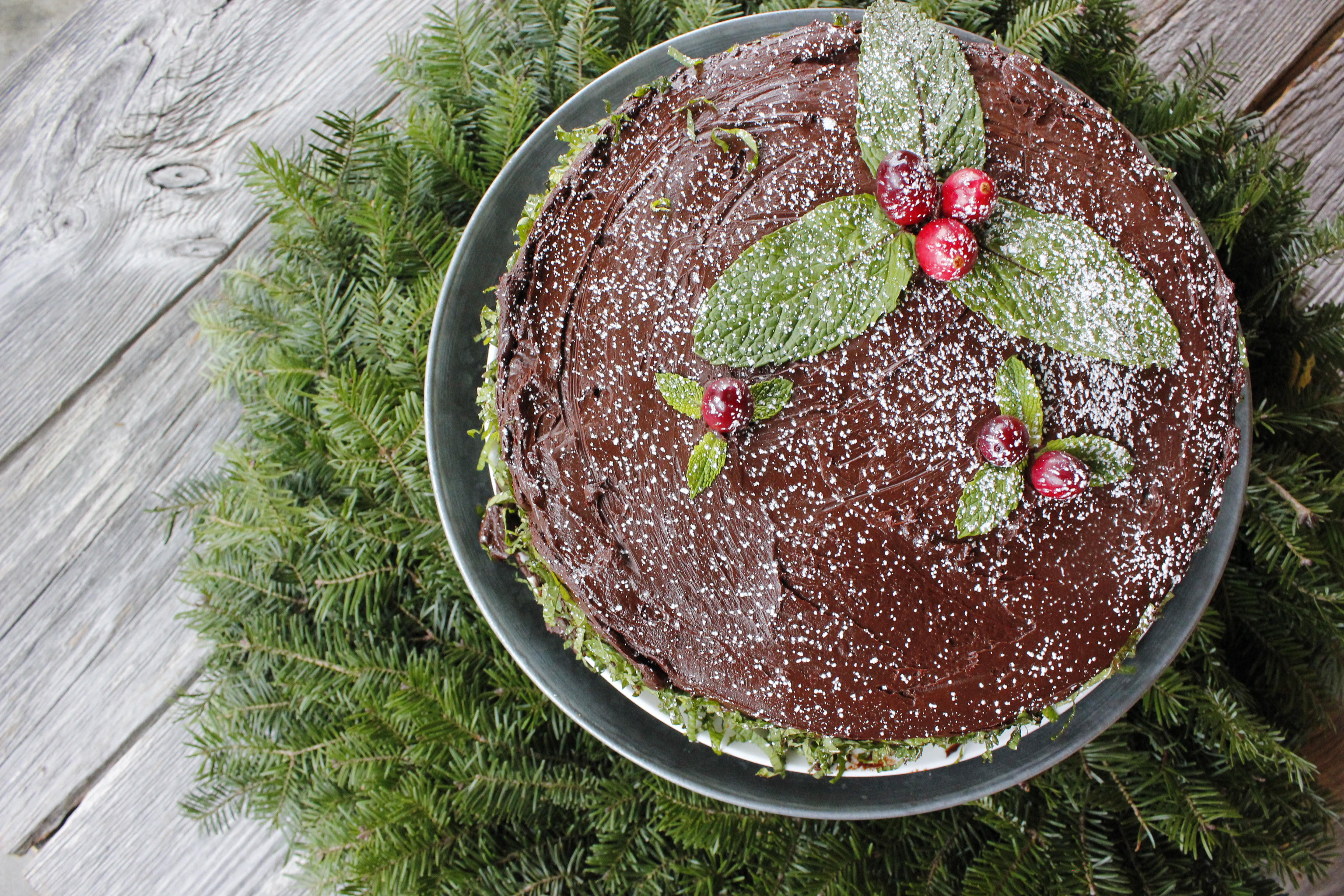 Mount Mansfield Chocolate Mint Cake