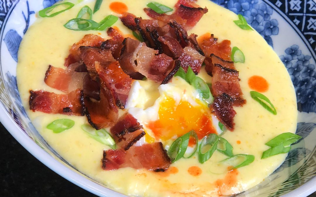 Southern-style Grits with Poached Eggs